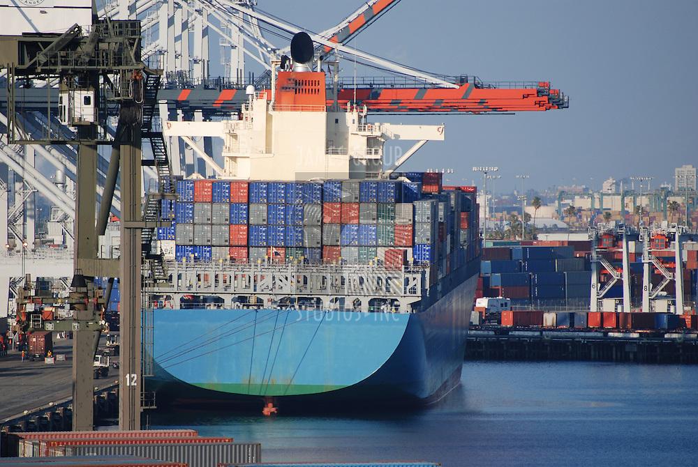 Industrial shipping port in San Pedro, California