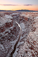 The Taos Box, a section of the Rio Grande Gorge near Taos, New Mexico.
