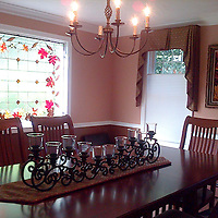 Renee and Mike H. in Lowell, MA designed their dining area with fall in mind...and Fall Splendor graces the haed of the table.