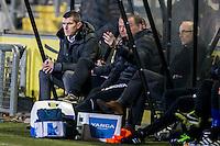 BREDA - NAC - FC Emmen , Voetbal , Jupiler League , Seizoen 2016/2017 , Rat Verlegh Stadion , 16-12-2016 , NAC trainer Marinus Dijkhuizen zit geconcentreerd op de bank