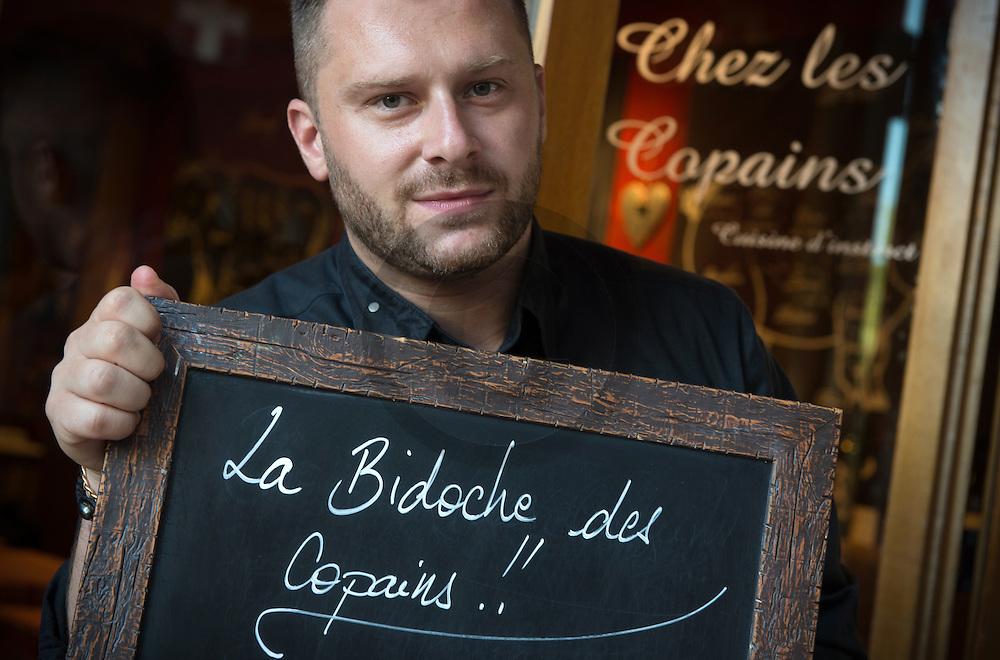23/08/16 - AIX LES BAINS - SAVOIE - FRANCE - Jerome Lechiffre, chef du restaurant Chez Les Copains - Photo Jerome CHABANNE