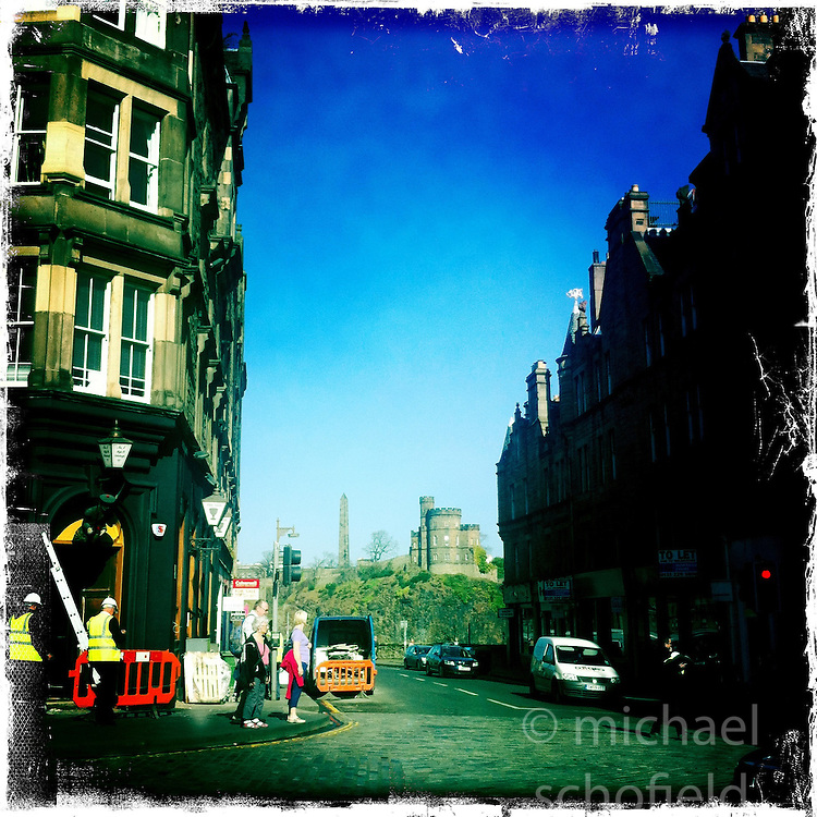 Edinburgh..Hipstamatic images taken on an Apple iPhone..©Michael Schofield.