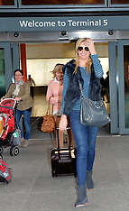 MAR 06 2014 Penny Lancaster arrives at Heathrow Airport