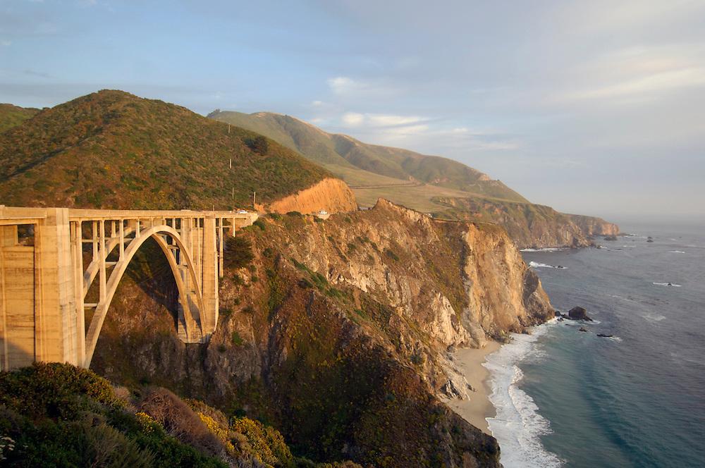 Bixby Bridge, Highway 1, Cabrillo Highway, Big Sur, California, United States of America