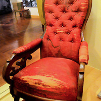Abe Lincoln Assassination Chair at Henry Ford Museum in Dearborn, Michigan<br />