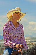 Barrel Racer, Montana High School Rodeo Finals, Bozeman, Montana