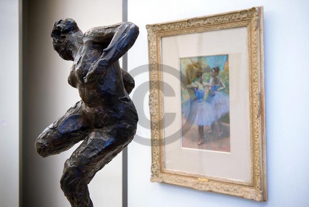 22/08/16 - AIX LES BAINS - SAVOIE - FRANCE - Oeuvres d Edgar DEGAS au Musee Jean FAURE - Photo Jerome CHABANNE