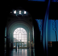 Main hall of Yerevan Central Railway Station has only 5 trains a day -only one of them to Tbilisi in Georgia is international line and goes every second day...After Azerbaijan and Turkey closed the border with Armenia only international railway crossing is to Georgia.Railway to Iran is also not operating since it goes thru Nakhichevan-Azerbaijan..