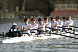 2012.02.25 Reading University Head 2012. The River Thames. Division 1. Kings School Chester Boat Club B J15A 8+