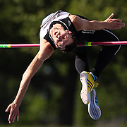 Bodan Bondarenko, Ukraine, in action in the Men's pole vault competition during the Diamond League Adidas Grand Prix at Icahn Stadium, Randall's Island, Manhattan, New York, USA.  <br />World champion Bodan Bondarenko of Ukraine beat world indoor champion Mutaz Essa Barshim of Qatar in an epic high jump duel at New York's Diamond League meet on Saturday. Bondarenko and Barshim both cleared 2.42 meters - the first time two athletes jumped that high in the same competition - and both took shots at 2.46. Both were unable to surpass the 21-year-old world record of 2.45 set by Cuba's Javier Sotomayor in 1993 but their leaps still marked the best height cleared since Sotomayor jumped 2.42 in 1994. Diamond League Adidas Grand Prix at Icahn Stadium, Randall's Island, Manhattan, New York, USA. 14th June 2014. Photo Tim Clayton