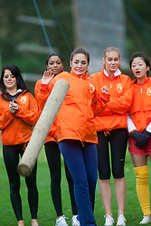 Miss Puerto Rico Amanda Perez. The Miss World 2011 contestants take part in a highland games in the grounds of Crieff Hydro, Perthshire..MISS WORLD 2011 VISITS SCOTLAND..Pic © Michael Schofield.