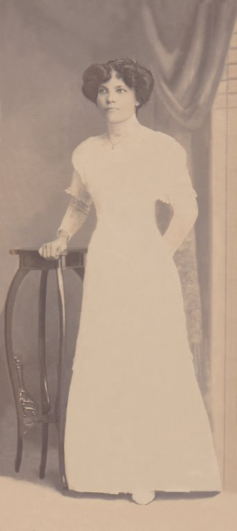 Portrait of Grandma, Daisy Maud Bulner (nee Jacobs), taken in Bangkok, Siam, Circa<br /> 1911/12.