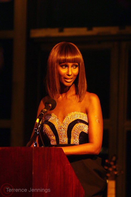 Iman at The 3rd Annual Black Girls Rock Awards held at the Rose Building at Lincoln Center in New York City on November 2, 2008..BLACK GIRLS ROCK! Inc. is a 501 (c)(3) nonprofit, youth empowerment mentoring organization established for young women of color.  Proceeds from ticket sales will benefit BLACK GIRLS ROCK! Inc.?s mission to empower young women of color via the arts.  All contributions are tax deductible to the extent allowed by