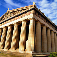 Parthenon Replica in Centennial Park in Nashville, Tennessee<br /> If you want to see what the Athens&rsquo; Parthenon looked like in 447 BC, then visit the full-sized replica in Nashville, Tennessee. Located in Centennial Park, this 1897 version of the Greek temple shows all the missing parts of the original, including a 42 foot statue of Athena. She is helmeted, carries a shield, is covered by gold leaf and is as intimidating as she is garish.