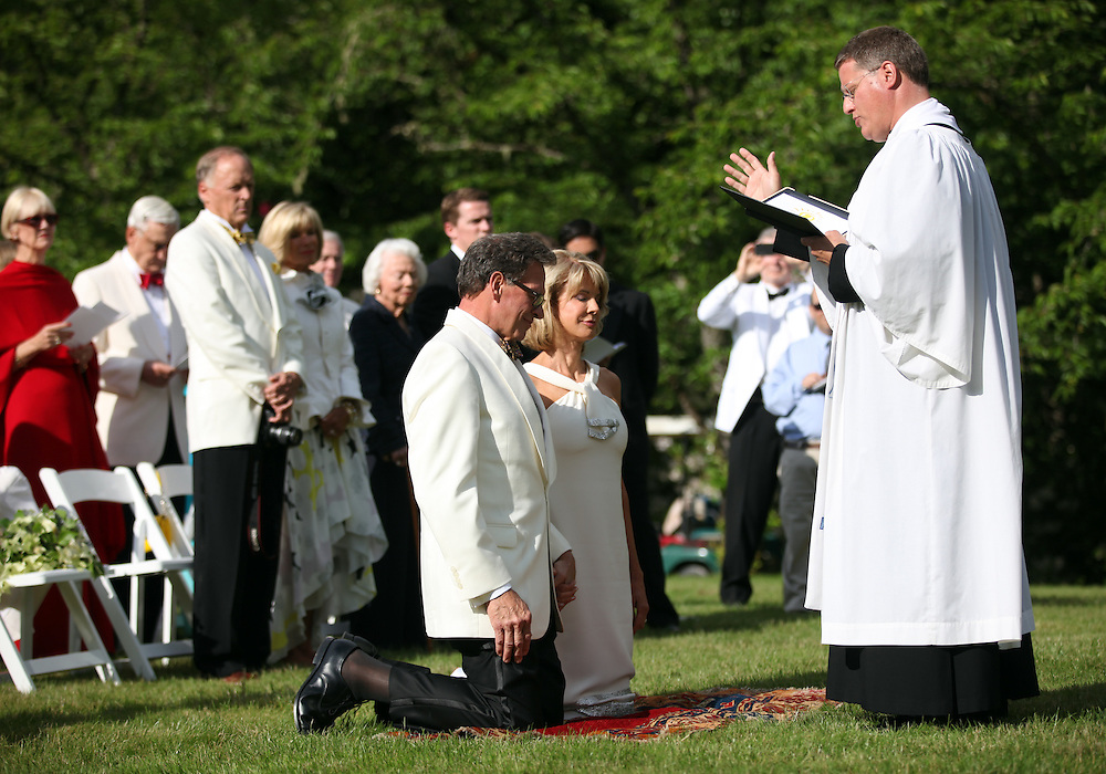 Nancy Coffey and F. Timothy Nagler are married at Duckridge Farm in Portland, Ore., Saturday, June 2, 2012...The bride, 66, is a Senior Vice President with The Corcoran Group in New York.  She graduated from Stanford and received a M.S. in Engineering from Stanford. She is a daughter of Joan Moore of Montecito, Ca., and the late Arthur J. Coffey, a custom home builder and developer in Palm Springs, Ca., where she grew up...The bridegroom, 65, is the president and owner of Jungclaus-Campbell Co., Inc., an Indianapolis industrial general contractor founded in 1875.  He graduated from Carleton College and received a M.A. in English from the University of Virginia.He is the son of Ruth E. and Louis G. Nagler of Amery, Wisconsin.  His father was a lawyer, his mother a homemaker.