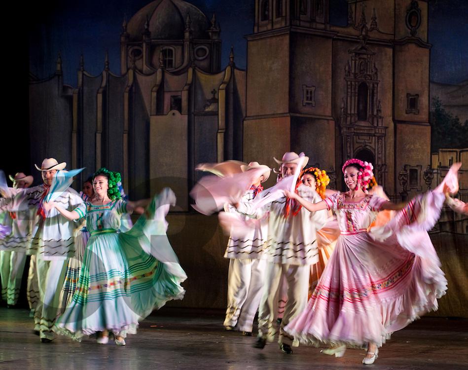 Danza folklorica en Mexico. Ballet Folklorico Amalia Hernandez, Mexico.
