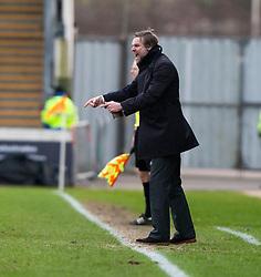 Steven Pressley, Falkirk manager..Falkirk 1 v 0 Dunfermline, 16/2/2013..©Michael Schofield.