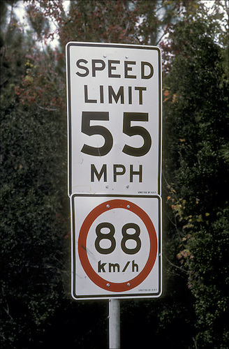 55 MPH Speed Limit Sign  Joel Gordon Photography