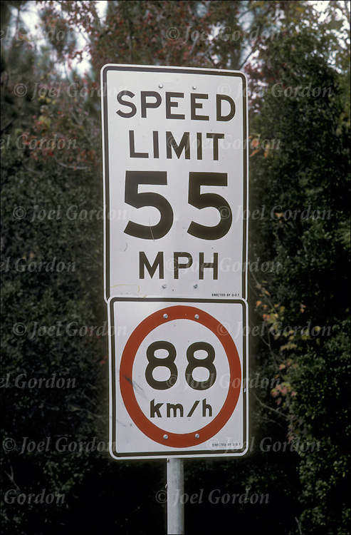 55 mph speed limit sign joel gordon photography. Black Bedroom Furniture Sets. Home Design Ideas