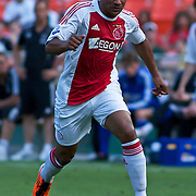 AFC Ajax Attacker Lorenzo Ebecilio (41) pushes the ball up field during the MLS International friendly match between AFC Ajax and D.C. United...AFC Ajax defeated DC United 2-1 Sunday, May 22, 2011 at  RFK Stadium in Washington DC.
