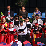 Christiana High School advanced choir performs during Christiana 52nd commencement exercises Monday, June 01, 2015, at The Bob Carpenter Sports Convocation Center in Newark, Delaware.