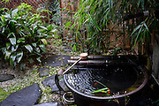 A water pont in a garden of an onsen (hot spring) in Atami city, Japan