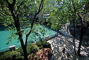 Image of a park along Magnificent Mile overlooking the Chicago River in Chicago, Illinois, American Midwest