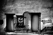 A condemned building in downtown Tucson, Arizona