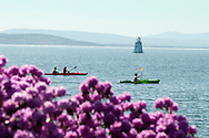 Spring kayaking at Burlington, Vermont