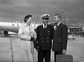 1958 - J. F. Dempsey, General Manager, Aer Lingus leaving for Lourdes from Dublin Airport