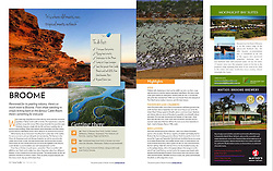Scoop Traveller - July to December 2012<br /> Ridell Beach, Broome aerial and Shorebirds images.