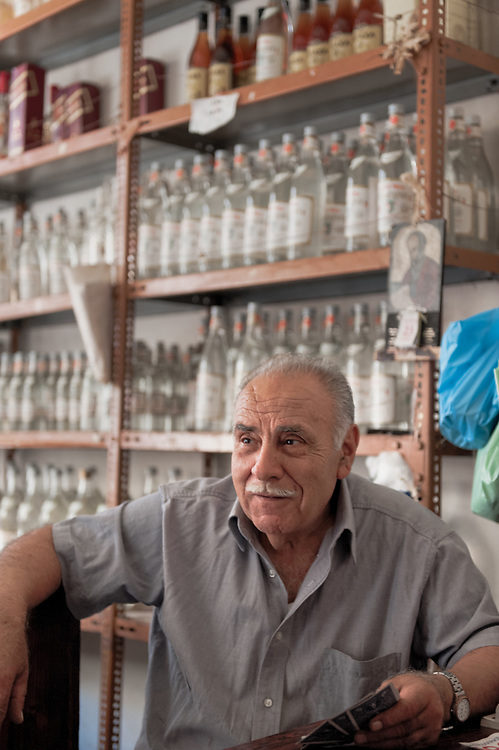 One of the owners of the traditional Tsamparlis Distillery in Chios town. The distillery was founded in 1914 and it still run by the same family. It produces Ouzo, Mastic Liqueur and Tangerine Liqueur
