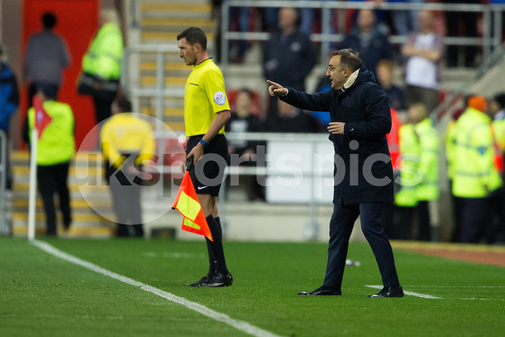 Sheffield Wednesday Manager Carlos Carvalhal during the Sky Bet Championship match between Rotherham United and Sheffield Wednesday at the Aesseal New York Stadium, Rotherham, England on 23 October 2015. Photo by James Williamson.