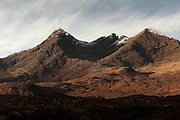 Views of the Cuillin mountains and surrounding hills on the Isle of Skye near Sligachan