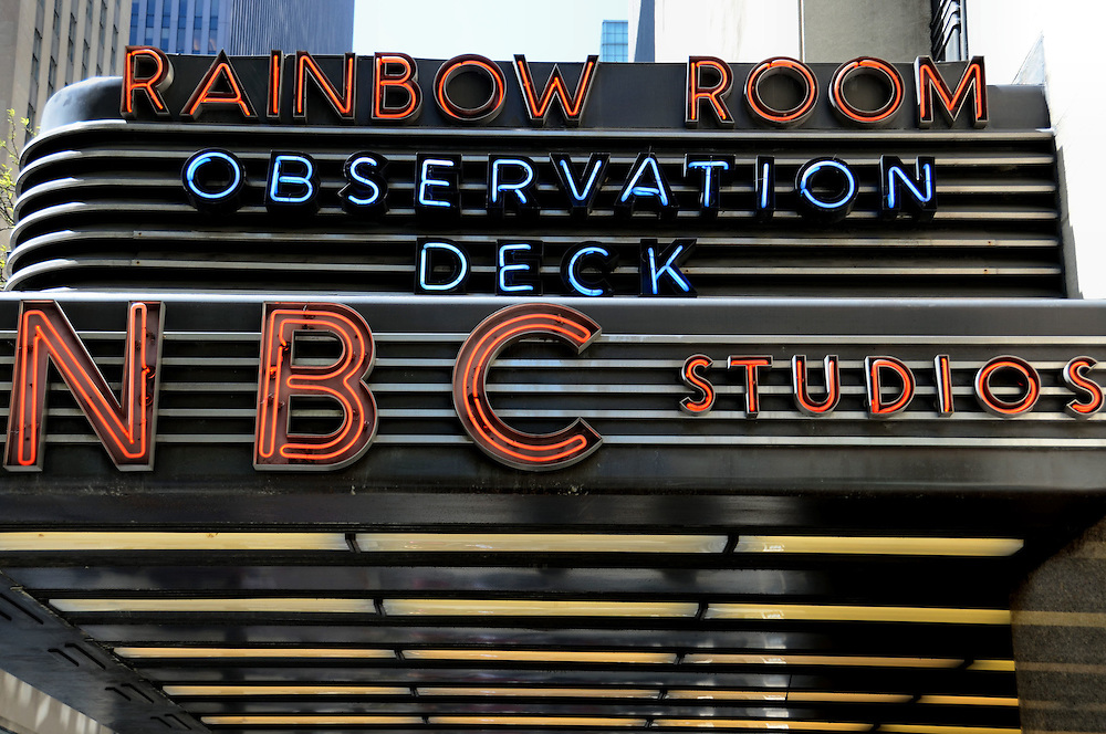 Rainbow room nbc studios marquee in new york city new for Top of the rock new york restaurant