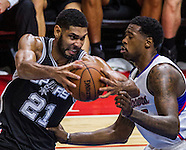 Basketball: LA Clipper vs San Antonio Spurs