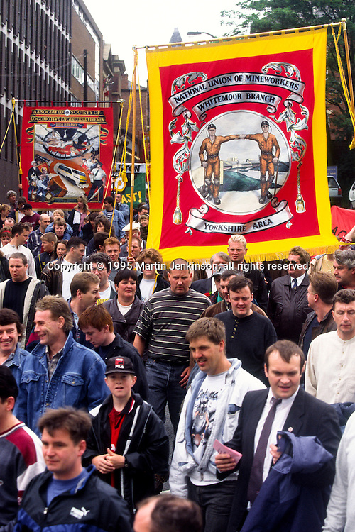 Whitemoor Branch banner, Miners Gala Wakefield.
