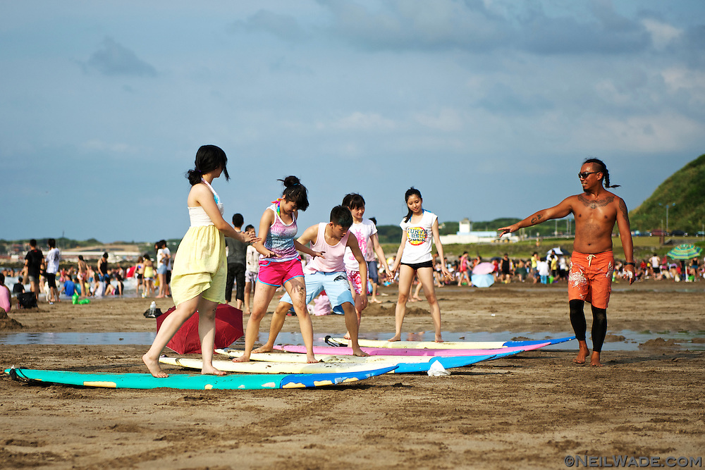 Surboard rental and lessons are available on weekends.  Sunshade huts are also available for rent.