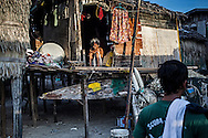 Bajau old woman in her house on Mabul Island