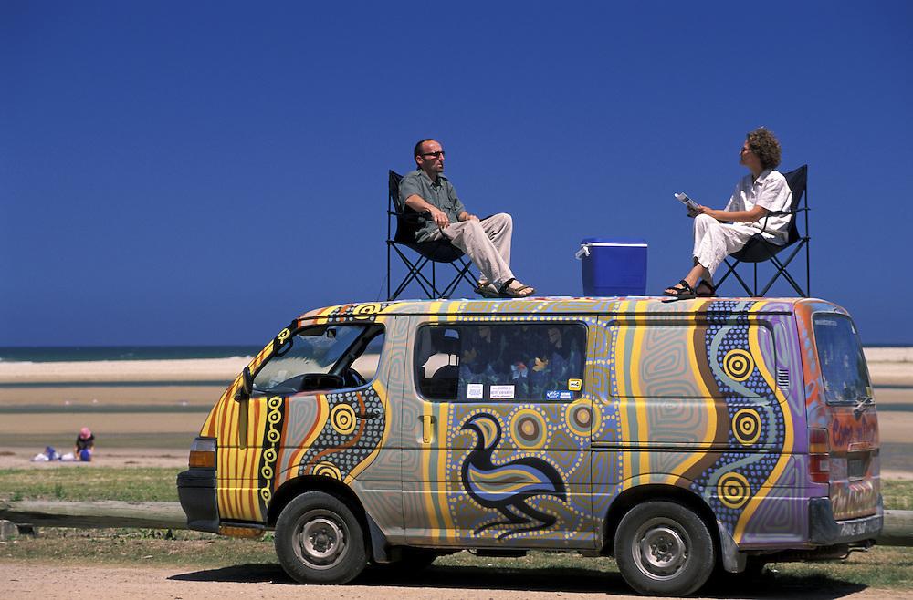 The Heebs on.Wicked Camper Van.Lake Cathie (Townsite).New South Wales.Australia