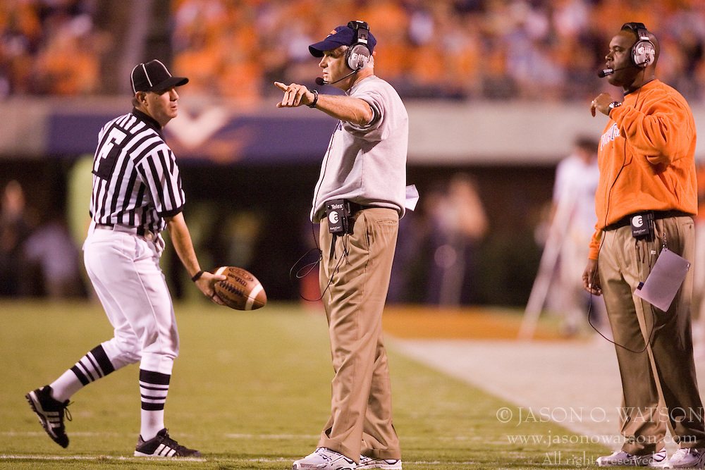 Virginia head coach Al Groh.  The Virginia Cavaliers faced the Pittsburgh Panthers at Scott Stadium in Charlottesville, VA on September 29, 2007.