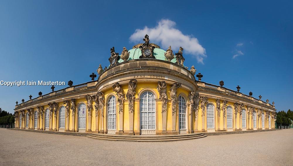 Sanssouci castle in park in Potsdam outside Berlin Germany