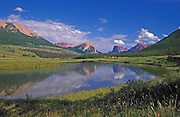 The Wind River Range in Wyoming Frames the Green River and Includes Squaretop Mountain