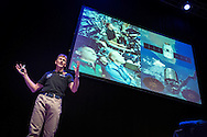 British Astronaut Tim Peake pictured during the UK Space Agency Schools Conference hosted by the University of Portsmouth at the Guildhall in the city.<br /> The conference celebrated the work of over a million UK school students inspired by Peake's Principia mission, which saw the flight dynamics and evaluation graduate spend more than six months on board the International Space Station.<br /> Youngsters had the chance to present their work through talks and exhibitions to experts from the UK Space Agency, European Space Agency (ESA), partner organisations and the space sector. Most also had the chance to meet Tim.<br /> Picture date Wednesday 2nd November, 2016.<br /> Picture by Christopher Ison for the University of Portsmouth.<br /> Contact +447544 044177 chris@christopherison.com