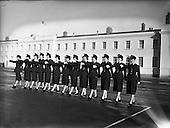 1959 – 04/12 Passing Out Parade of Gardai - 12 New Ban Gardai