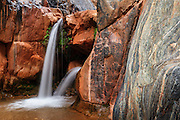 The waterfalls at Clear Creek. Grand Canyon National Park in Arizona.
