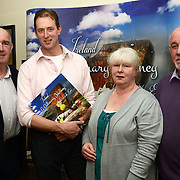 """Dermot Seberry at the launch  of his new cookbook """"Ireland, a culinary journey in the North East"""" in Stockwell Artisan Foods with John O'Mahony of Ferdia Chocolates, and   Richard Gladney and Sheila Grant of Blas na Talun."""