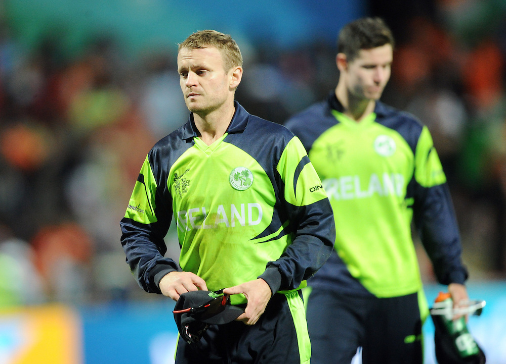Ireland's captain William Porterfield after his teams defeat to India in the ICC Cricket World Cup at Seddon Par, Hamilton, New Zealand, Tuesday, March 10, 2015. Credit:SNPA / Ross Setford