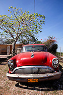 Old American car in Floro Perez, Holguin, Cuba.