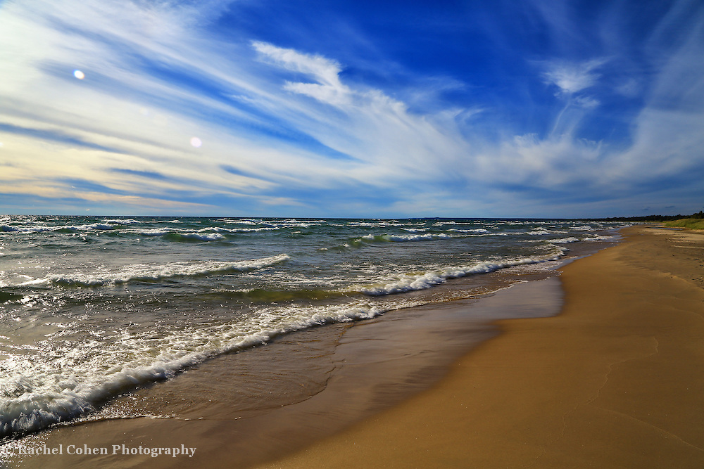 &quot;Sky Light Sky Bright&quot;<br /> <br /> Bright, brilliant, and vast! A beautiful scenic Lake Michigan waterscape!!<br /> <br /> The Great Lakes by Rachel Cohen